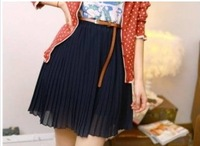 2013 New Arrival Retro Bouffancy High Waist Skirt Navy free shipping GX12040613-2