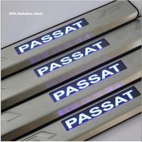 chrome  Stainless steel led Door Sill Scuff Plate For Volkswagen VW passat  B6 Passat B6 2006-2010