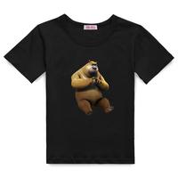 Children's clothing male child T-shirt child summer short-sleeve cotton short-sleeve 100% unlicked bear