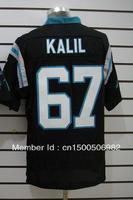 Free Shipping! Carolina #67 Kalil  2012 Men's Authentic Elite Football Jersey,Embroidery logos,size M-3XL,Mix Order