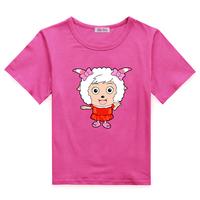 Female goat children's clothing child summer short-sleeve T-shirt female child spring 2013