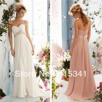 2013 Best Seller Empire Sweetheart Pleated Chiffon Floor Length Elegant New Style Wedding Dresses Cheap