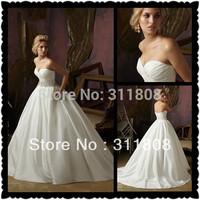 2013 Top Quality Taffeta Corset Ball Gown Bridal Wedding Dress