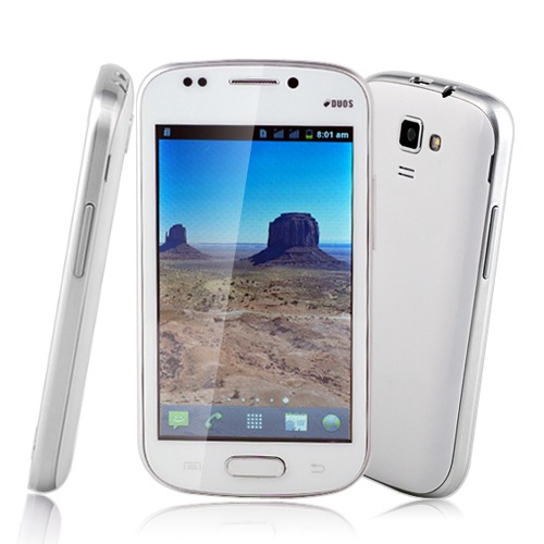 "2013 New Hot sale Unlocked 4.0"" Capacitive Multi-Touch Screen Dual Sim Android 4.0 Smart Phone WiFi AT T mobile Low price white(China (Mainland))"