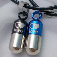 Lovers necklace women's pendant fashion Men necklace male accessories Women love capsule pendant