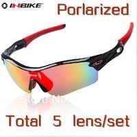 Free Shipping Brand Inbike Cycling Bicycle Bike Outdoor Sports Sun Glasses Eyewear Goggle Sunglasses 5 Lens Polarized