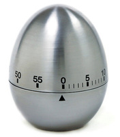 Egg Shaped Stainless Steel Mechanical Twist Timer (60-Minutes) kitchen timer Kitchen  Mechanical Dial Timer