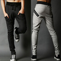 Spring Summer Newest Style Skinny Harem Pants 2013 Man Sports Health Slim Long Trousers Casual Sport Pants 1749 Free Shipping