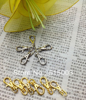 50pcs/lot Wholesale Fashion Swivel Lobster Clasp Rhodium Plated Iron Fit Keyring/Rings/Key Chain 38mm 160311