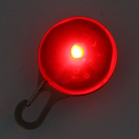 10pcs/lots***Red Circular Pendant Collar Puppy Led Safety Night Light Pet Dog Collar free shipping SL00167R