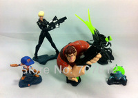 2013 Wreck-ItRalph action figure movie Cartoon Figure Toys  5pcs/set  11cm  free shipping hot sale
