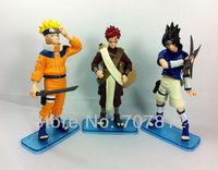 2013 Naruto action figure anime  Figures Sasuke Gaara Toys  3pcs/set 15cm  free shipping hot sale