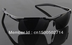 Men&#39;s Aluminum polarized driving half Framework classic sunglasses - cool and fashional(China (Mainland))