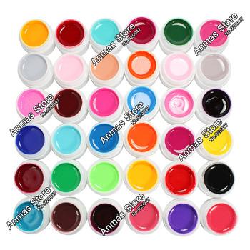 Free Shipping 36 Color Solid Pure UV Builder Gel Set Nail Art False Full French Tips Salon Set,HB-UVGel04-Pure36C