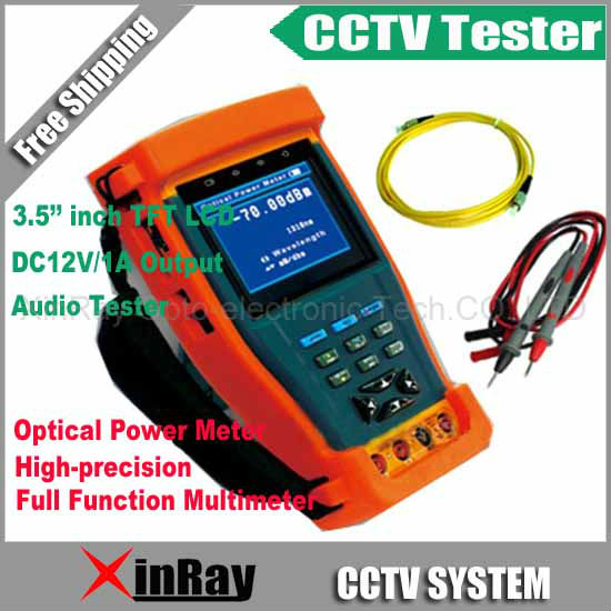 CCTV Tester with Full Function Multimeter Optical Power Meter Monitor Camera Video Test / PTZ UTP RS485 XR-CT5,Free Shipping(China (Mainland))