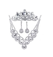 2013 New design high quality crystal bridal jewelry sets hot sale  rhinestone butterfly tiara jewelry sets
