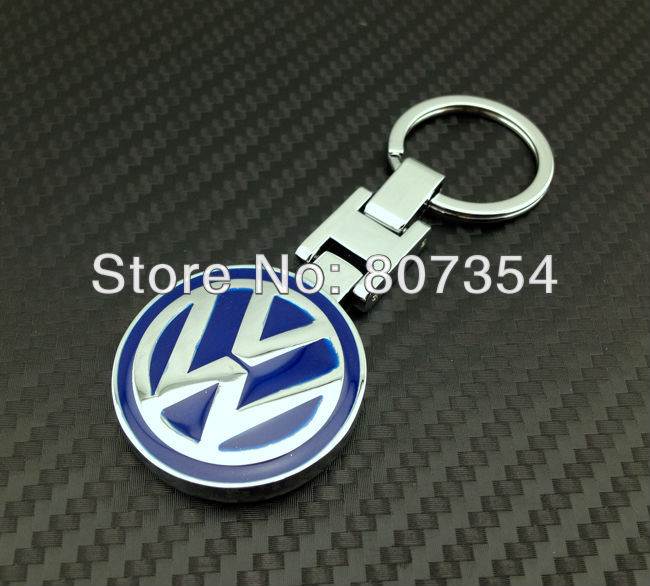 free shipping, Brilliant 3D design car logo key ring for VW all car, with VW logo lock key chain/key holder, Excellent!(China (Mainland))