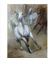 ART-050 Modern Abstract Oil Painting gallop horse Art on Canvas 60x90cm