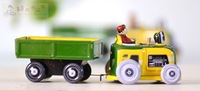 Free Shipping Classic Retro Clockwork Tin Farm Transport Tractor, Great Collectible Gift Toys For Children And Adults