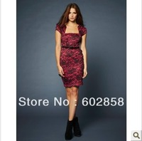 Autumn new fashion elegant temperament Slim was thin dress 7530