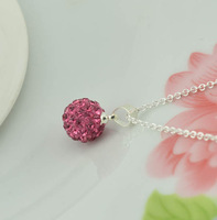 Manufacturers wholesale Korean version of the necklace 925 silver jewelry Austrian crystal super flash full diamond necklace fem