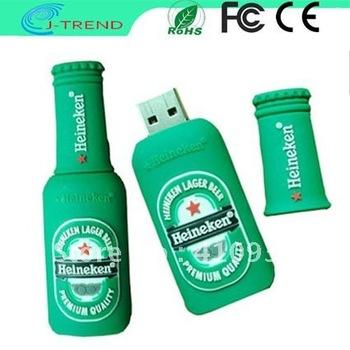 2GB 4GB 6GB 8GB 16GB 32GB Free Shipping OEM Novel Design Bottle 16GB USB Flash Drive.