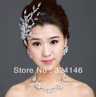 Cheap!! 100% real picture Luxurious bridal jewelry sets bride rhinestone necklace wedding accessory