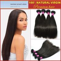 "3pcs/lot 10""-30"" Straight Brazilian Virgin Human Hair Extension Natural Color"