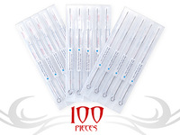FREE SHIPPING  U-pick size 100pcs NEW POWER DISPOSABLE STERILE TATTOO NEEDLES 11,13,15RS RL M1 RM