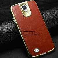 Crazy horse leather back case for samsung galaxy s4 i9500 fashion frame cover for samsung i9500 retail free shipping 2013