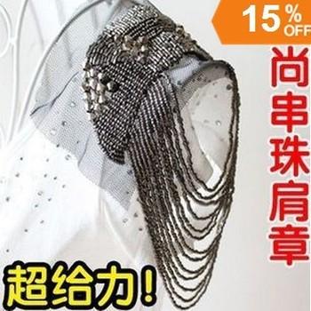 Hot Sales Europen Brand Design Popular Fashion Punk Tassels Brooch Epaulet High quality Weddings Jewelry Accessories 2014 PT32