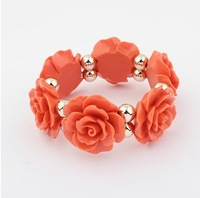 Min. order is $15(can mix)fashion bracelets&banges/Vintage Rose Bracelet ,Bohemia Elastic jewelry