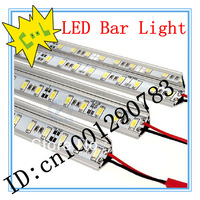 SMD 5050 non-waterproof 36 LEDs 50cm  2pcs white/warm white DC 12V LED Showcase light bar,LED tube,hard CPAM/HKAMshipping