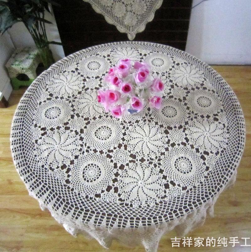 Compra crochet patrones de manteles redondos online al por mayor de