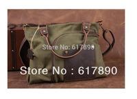 Free shipping 2013 the bag brand handbag canvas+genuine leather bag for men,large bolsa bags messengers bags items HB25