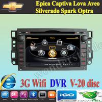 Car DVD Player  GPS Chevrolet Epica Captiva Lova Aveo Optra  + 3G WIFI + V-20 Disc + 1GB cpu + DDR 512M RAM + DVR + A8 Chipset