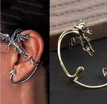 ocean jewelry store fashion gothic dragon ear cuff earring ( free shipping $10 )