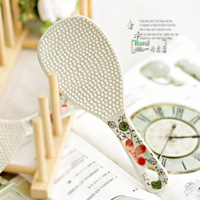 Ceramic tableware rice spoon series crumpet spoon