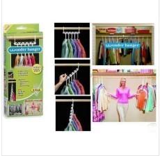 Magic hangers multi-functional rack air basks in clothings frame folding hooks 8pcs/box