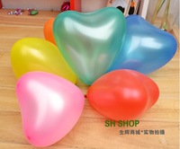 Free shipping festival supplies marriage room decorate wedding upset sweet heart shape small balloon wholesale 300 pcs a lot