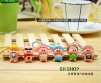 Free shipping special McDull pig happiness family cellphone chain mobile phone straps pendant student prize gift 24 pcs a lot