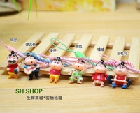 Free shipping special anime cute Crayon Shin-chan cellphone chain mobile phone straps pendant student prize gift 24 pcs a lot