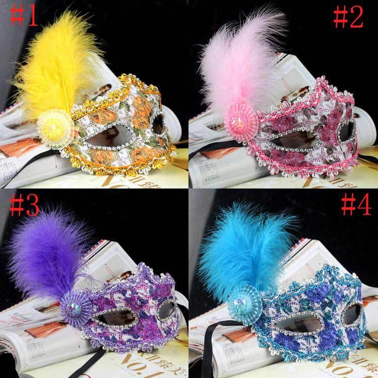 Hot venda por atacado 40 pçs/lote pena grátis frete Lace cristal Cosplay festa de casamento veneziano Masquerade máscara de Halloween(China (Mainland))