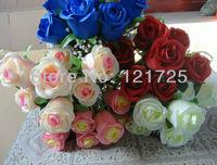 DIY hand bouquets silk flower artificial flowers bouquet bridal bouquets,palm flower