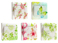 5pcs waterproof creative switch stickers - Hand-painted freehand Series bedroom wall stickers multicolour