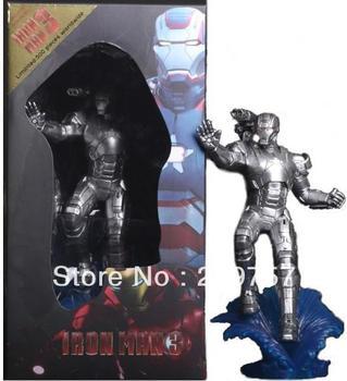 "Crazy toys Iron Man 3 Ironman Mark XLII Silver 9"" Figure NIB Cool!"
