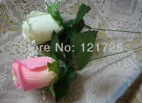 silk artificial single rose flowers artificial plants,7 colors for choose