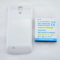 Free shipping  NEW 6000mAh  EXtended battery +White back cover case for Galaxy S4 SIV I9500