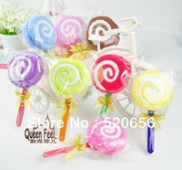 Free shipping Lollipop shaped cake towel 100%cotton cake towel favor gifts wedding gifts baby shower favor gifts birthday gift