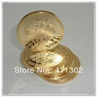 1pcs/lot  Russian 10 Rubles 1886 Gold clad Replica Souvenir coin,challenge gold coins
